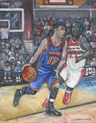 Jeremy Lin Paintings - Jeremy Lin by John Cummings
