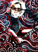 Guitarists Paintings - Jerome FOUR by Kevin J Cooper Artwork
