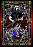 Rock Guitar Prints - Jerry Card Print by Gary Kroman