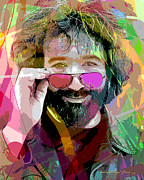 Bands Painting Prints - Jerry Garcia Art Print by David Lloyd Glover
