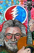 Jerry Garcia Band Prints - Jerry Garcia Fun Tribute Print by Emily Michaud