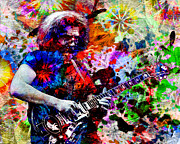 Hippie Painting Prints - Jerry Garcia - Grateful Dead Print by Ryan Rabbass