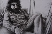 Rollingstone Drawings Posters - Jerry Garcia in 72   Poster by Leandria Goodman