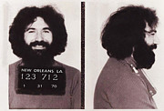 Hippie Posters - Jerry Garcia Mugshot Poster by Digital Reproductions