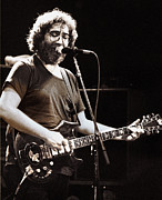 Rock And Roll Prints - Jerry Garcia_1981 Print by Chuck Spang