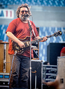 Jerry Garcia Band Prints - Jerry Garcia_1986 Print by Chuck Spang