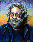 Jerry Garcia Pastels - Jerry by Jim Figora