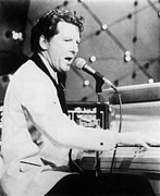 Jerry Posters - Jerry Lee Lewis on Stage Poster by Sanely Great