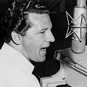 Jerry Posters - Jerry Lee Lewis Portrait Poster by Sanely Great