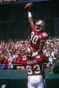 Jerry Posters - Jerry Rice celebration Poster by Sanely Great