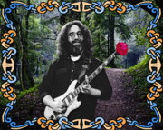 Concert Images Prints - Jerry Road Rose 1 Print by Ben Upham