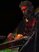 Dobro Digital Art Posters - JerryD in Shadow Poster by Julie Turner