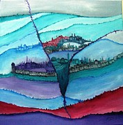 Jerusalem Painting Originals - Jerusalem 2 by Doris Cohen