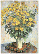 Jerusalem Painting Metal Prints - Jerusalem Artichokes Metal Print by Claude Monet