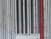 Jerusalem Black And Withe Barcode Print by Hanna Fluk