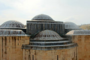 Domes Prints - Jerusalem Blue Domes Print by Munir Alawi