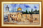 Jerusalem Painting Metal Prints - Jerusalem Cradle of Civilization Metal Print by Rachel Alhadeff