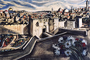 Jerusalem From The Damascus Gate Print by Yael Avi-Yonah