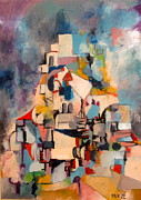 Jerusalem Painting Originals - Jerusalem Katamon by Moshe BenReuven