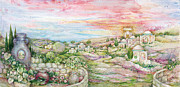 Jerusalem Paintings - Jerusalem Landscape by Michoel Muchnik