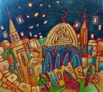 Dome Paintings - Jerusalem - Magic Journey     by Inna Novikova