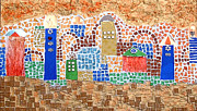 Mosaic Mixed Media - Jerusalem of colors by Reli Wasser