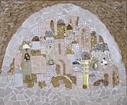 Jerusalem Mixed Media Posters - Jerusalem of Hope Poster by Reli Wasser