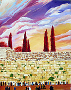 Purim Prints - Jerusalem Prayers Print by Dawnstarstudios
