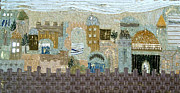 Jerusalem Mixed Media Posters - Jerusalem the built city that is joined together Poster by Reli Wasser
