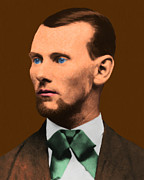 Old West Digital Art Posters - Jesse James 20130515 Poster by Wingsdomain Art and Photography