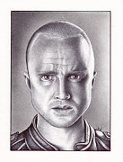 Tv Show Drawings Framed Prints - Jesse Pinkman Framed Print by Jamie Warkentin