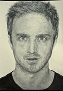 Hyperrealistic Framed Prints - Jesse Pinkman Framed Print by Rebekah Williamson