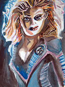 Jessica Alba Painting Originals - Jessica Alba - Fantastic Four - X03 by John Kelting