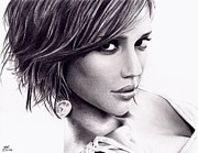Jessica Alba Drawings Originals - Jessica Alba by Rick Fortson