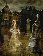 Haunted House  Digital Art Prints - Jessica Print by Tom Straub
