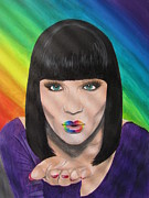 Christina Aguilera Paintings - Jessie J by Jeepee Aero