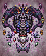 Scary Clown Prints - Jester God Print by David Bollt