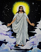 Son Paintings - Jesus by Adele Moscaritolo
