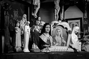 Religious Photo Prints - Jesus And Mary At The Curio Shop Print by Bob Orsillo