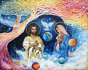 Astral Paintings - Jesus Art - Cloud Colored Christ Come by Ashleigh Dyan Bayer