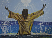 Kate Farrant Art - Jesus Baptism by Kate Farrant