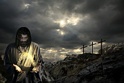 Christ Pictures Digital Art - Jesus Christ- And By His Wounds We Are Healed by Acropolis  De Versailles