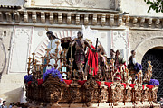 Wooden Sculptures Prints - Jesus Christ and Roman Soldiers on Procession Print by Artur Bogacki