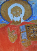 Library Paintings - Jesus Christ and The Bible 1 Codex Sinaiticus by Richard W Linford