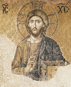 Byzantine Posters - Jesus Christ Blessing. 11th C. Turkey Poster by Everett