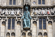 Jesus Photos - Jesus Christ figure at the Cathedral Gate of Canterbury Cathedral by Robert Preston