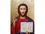 Jesus Christ Icon Framed Prints - Jesus Christ Framed Print by Janeta Todorova