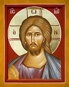 Jesus Christ Icon Framed Prints - Jesus Christ Framed Print by Julia Bridget Hayes