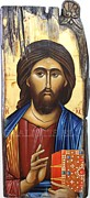 Byzantine Painting Originals - Jesus Christ by Lefteris Skaliotis
