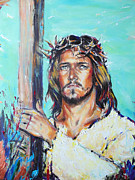 Superstar Painting Originals - Jesus Christ by Lucia Hoogervorst